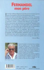 Fernandel Mon Pere - 4ème de couverture - Format classique