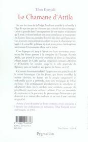 Le Chamane D'Attila - 4ème de couverture - Format classique