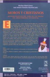 Moros Y Cristianos - 4ème de couverture - Format classique