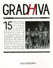 Cahier De Gradhiva T.15 - Couverture - Format classique
