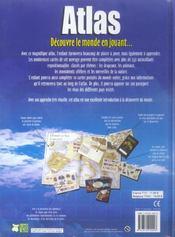 Atlas ; Decouvre Le Monde En Jouant - 4ème de couverture - Format classique