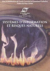 Systemes D'Information Et Risques Naturels - Intérieur - Format classique