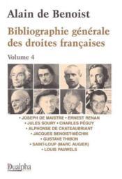 Bibliographie Generale Des Droite Francaises T.4 - Couverture - Format classique