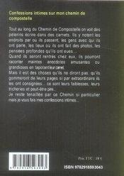 Confessions intimes ; sur mon chemin de compostelle - 4ème de couverture - Format classique