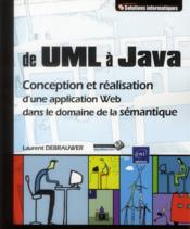 Vente  UML et JAVA ; conception et réalisation d'une application Web  - Laurent Debrauwer