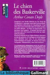 Le Chien Des Baskerville - 4ème de couverture - Format classique