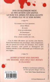 La voleuse de livres - 4ème de couverture - Format classique