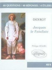 Étude sur jacques le fataliste, diderot - Intérieur - Format classique