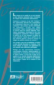 Qualite De Vie Et Cancerologie - 4ème de couverture - Format classique