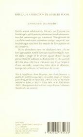 Changement De Cavaliere - 4ème de couverture - Format classique