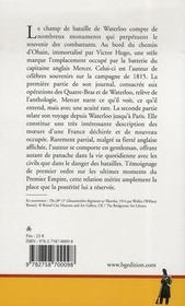 Journal de la campagne de Waterloo - 4ème de couverture - Format classique
