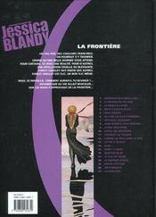 Jessica Blandy T.21; La Frontiere - 4ème de couverture - Format classique