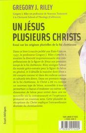 Un Jesus, Plusieurs Christs - 4ème de couverture - Format classique