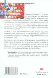 Les Normes Comptables Internationales - 4ème de couverture - Format classique