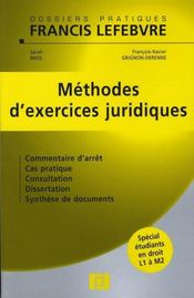 Méthodes d'exercices juridiques - Intérieur - Format classique