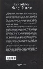 La Veritable Marilyn Monroe - 4ème de couverture - Format classique