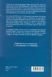 Ossoba, essai ethnographique ; l'ossetie traditionnelle vue par un ossete - 4ème de couverture - Format classique