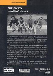 The Pixies ; les ovnis du rock - 4ème de couverture - Format classique