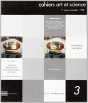 Cahiers Art Et Science 3 - Couverture - Format classique