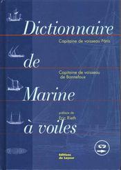 Dictionnaire De La Marine A Voile Livre + Cd - Intérieur - Format classique