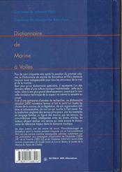 Dictionnaire De La Marine A Voile Livre + Cd - 4ème de couverture - Format classique