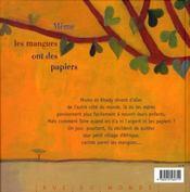 Même les mangues ont des papiers - 4ème de couverture - Format classique