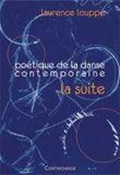Poétique de danse contemporaine ; la suite - Couverture - Format classique