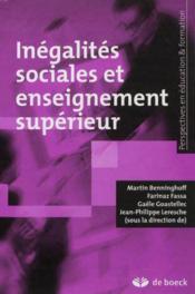 Inegalités sociales et enseignement supérieur - Couverture - Format classique