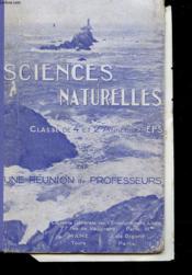 Sciences Naturelles - Geologie Et Botanique - Classe De 4° Et 2° Annee Des Eps - Couverture - Format classique
