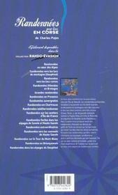 Randonnees pour tous en corse - 4ème de couverture - Format classique