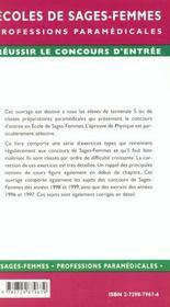 Epreuves Corrigees Et Commentees De Physique - 4ème de couverture - Format classique