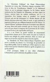 Manifeste Politique Pour Une Nation Civique Citoyenne Et Democratique - 4ème de couverture - Format classique
