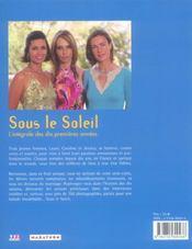 Sous le soleil - 4ème de couverture - Format classique