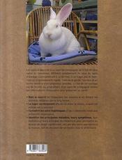 Soins du lapin de compagnie ; bien-être et maladies - 4ème de couverture - Format classique
