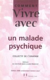 Vivre Avec Un Malade Psychique - Couverture - Format classique