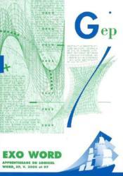 Exo Word. Apprentissage Du Logiciel Word Xp Version 2000 Et 97 - 2e Edition - Couverture - Format classique