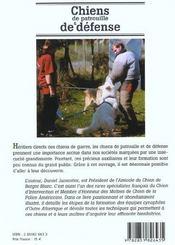 Chiens De Patrouille Et De Defense - 4ème de couverture - Format classique