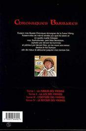 Chroniques barbares t.4 ; le retour des vikings - 4ème de couverture - Format classique