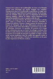 Magie Et Magiciens Dans Le Monde Greco-Romain - 4ème de couverture - Format classique