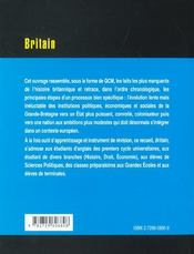 Britain Le Monde En Qcm - 4ème de couverture - Format classique