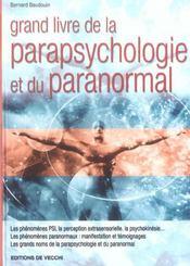 Gl De La Parapsychologie Et Du Paranormal - Intérieur - Format classique