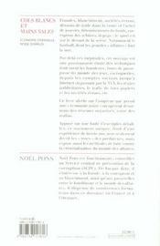 Cols Blancs Et Mains Sales - 4ème de couverture - Format classique