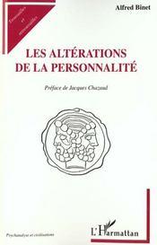 Les Alterations De La Personnalite - Intérieur - Format classique