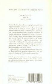 Nord Perdu Suivi De Douze France Babel 637 - 4ème de couverture - Format classique
