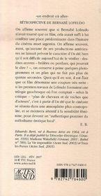 Retrospective De Bernabe Lofeudo - 4ème de couverture - Format classique