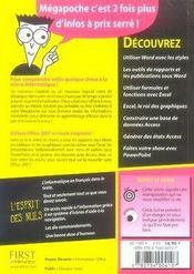 Word, Excel, Access, Powerpoint 2007 pour les nuls - 4ème de couverture - Format classique