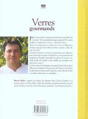 Verres Gourmands - 4ème de couverture - Format classique