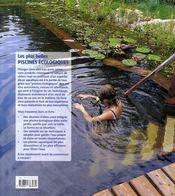 Les plus belles piscines écologiques - 4ème de couverture - Format classique