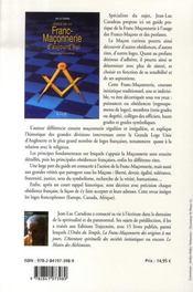 Guide de la franc-maçonnerie d'aujourd'hui - 4ème de couverture - Format classique