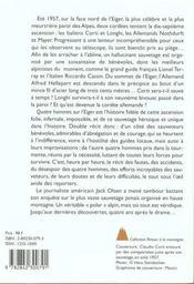 Quatre hommes sur l'eiger - 4ème de couverture - Format classique